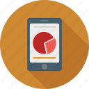 business phone, mobile graph icon