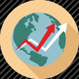 market trends, world market icon