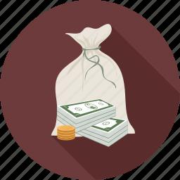 money, money bag icon