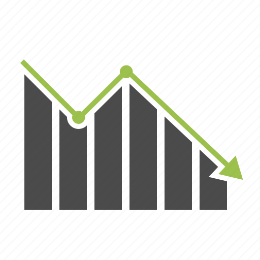 analytics, arrow, diagram, finance, graph, report, statistics icon