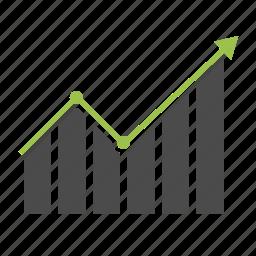 analytics, arrow, chart, graph, growth, report, statistics icon