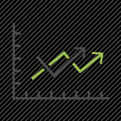 analytics, arrows, chart, diagram, graph, report, statistics icon
