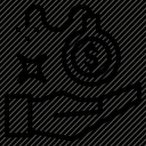 Blast, debt, finance, hand, money icon - Download on Iconfinder