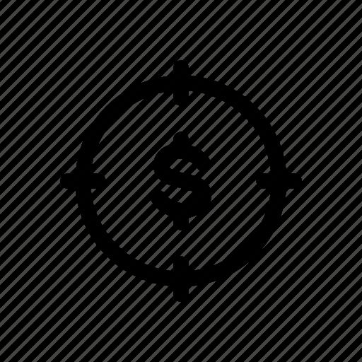 Aim, finance, focus, goal, money, sale, target icon - Download on Iconfinder