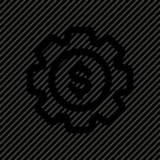 bank, banking, finance, financial, gear, interface, ui icon