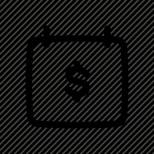 Banking, calendar, date, debt, due, money, schedule icon - Download on Iconfinder