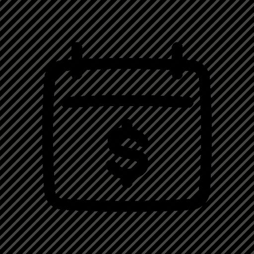 Bank, banking, calendar, date, debt, due icon - Download on Iconfinder