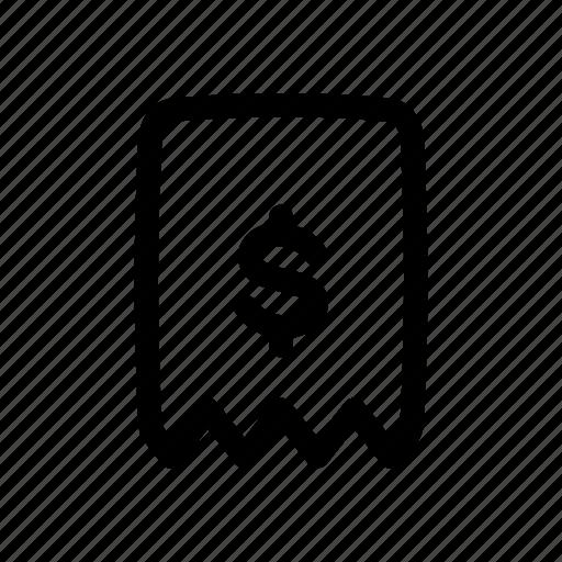 Bill, bookmark, favorite, payment, receipt icon - Download on Iconfinder