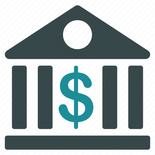 bank, building, business, cash, center, dollar, finance icon