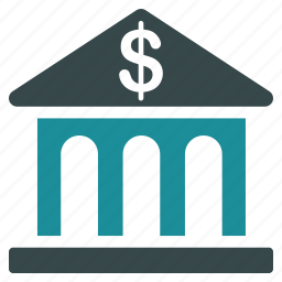 bank, banking, building, business, company, financial, money icon