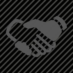 business, deal, hands, handshake icon