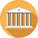 bank, building, columns, finance, finantix, money, stock exchange icon