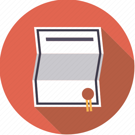 certificate, contract, document, finance, finantix, seal icon