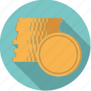 cash, coins, finance, finantix, money, stacked icon