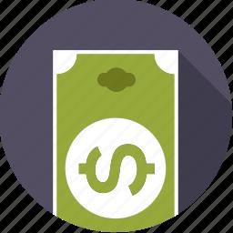 american, bill, currency, dollar, finance, finantix, money icon