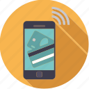 finance, finantix, mobile, money, payment, phone, transaction icon