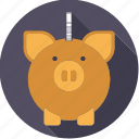 bank, cash, coin, finance, finantix, money, piggy icon