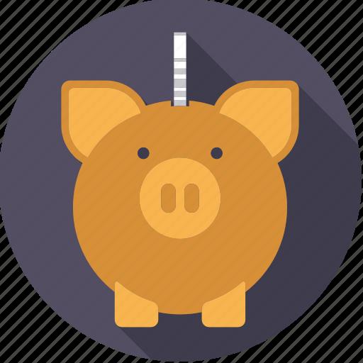 bank, cash, coin, finance, finantix, money, piggy icon