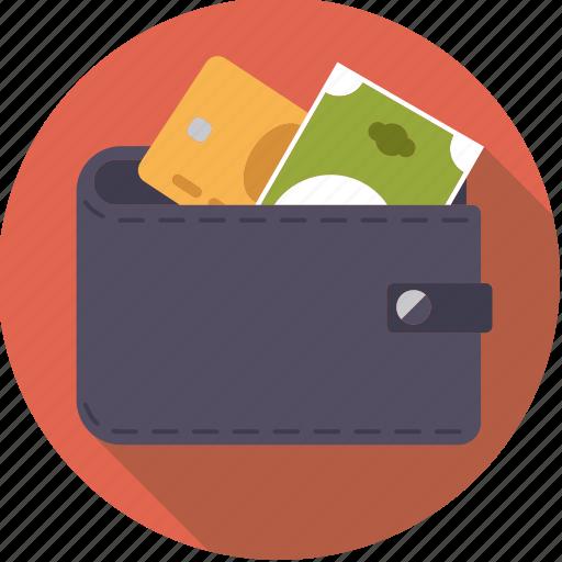 bill, cash, credit card, finance, finantix, money, wallet icon