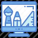 computer, design, graphic, screen icon