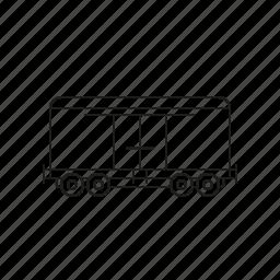 cargo, closed, logistics, railway, shipping, transport, wagon icon