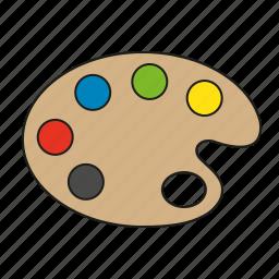 art, colors, design, graphics, painting, palette, publishing icon