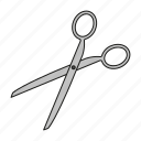 art, cutting, design, graphics, publishing, scissors, utensil icon