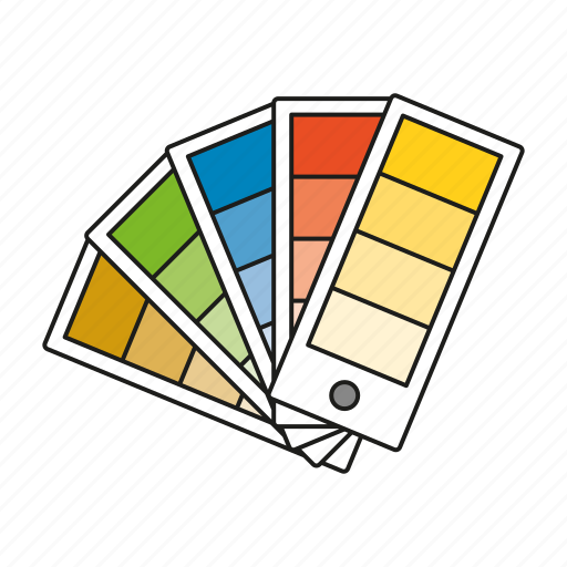 art, color selector, design, graphics, publishing, swatches icon