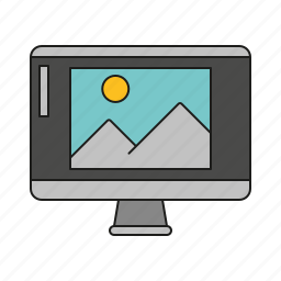 art, computer screen, design, graphics, image, publishing, retouching icon