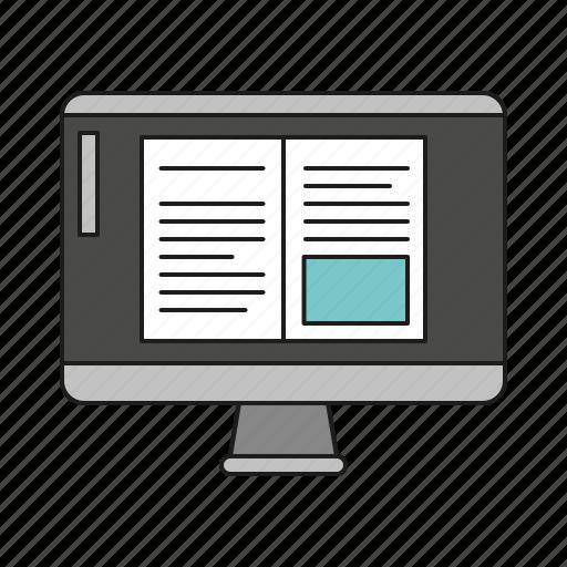 art, computer screen, design, graphics, layout, publishing, writing icon