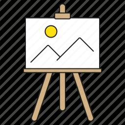 art, design, easel, graphics, image, painting, publishing icon