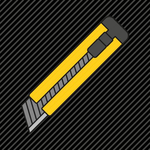 art, box cutter, design, graphics, office knife, publishing, utensil icon