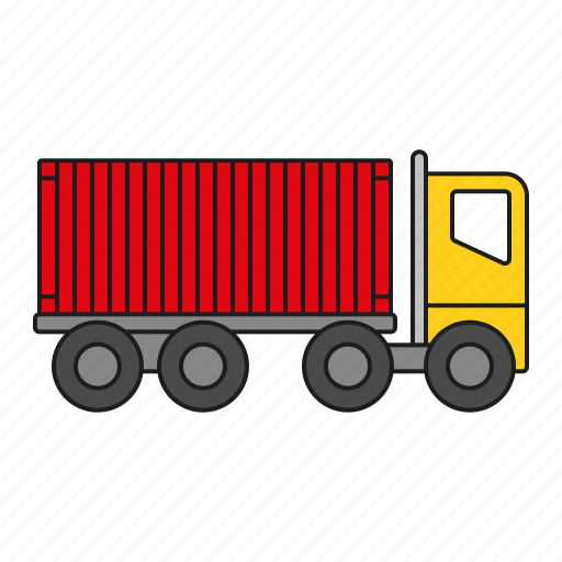 cargo, container, logistics, shipping, traffic, transport, truck icon