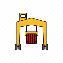 cargo, container, harbor, logistics, shipping, transport, transporter icon