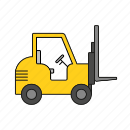 cargo, forklift, industry, logistics, shipping, transport, vehicle icon