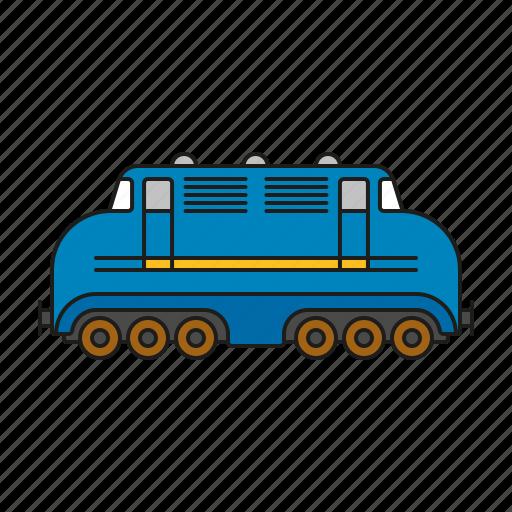 cargo, locomotive, logistics, railway, shipping, traffic, transport icon