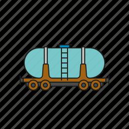 cargo, logistics, railway, shipping, tanker, transport, wagon icon