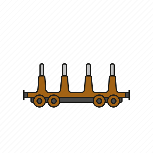 cargo, logistics, open, railway, shipping, transport, wagon icon