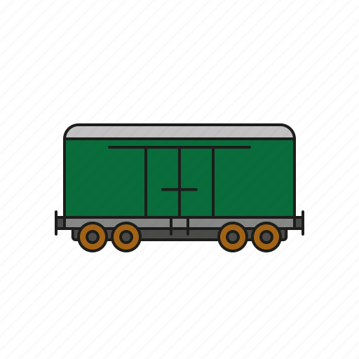 cargo, closed, logistics, railway, shipping, transport, wagon icon