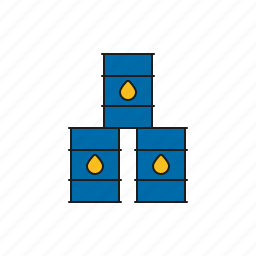 barrel, cargo, logistics, oil, shipping, stack, transport icon