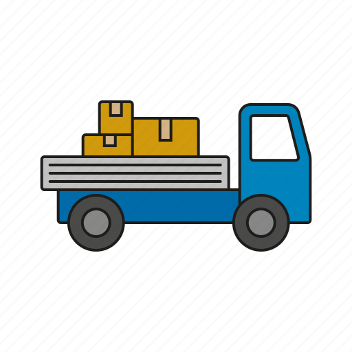 Cargo, delivery, logistics, pickup, shipping, transport, truck icon - Download on Iconfinder