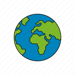 cargo, earth, globe, logistics, shipping, transport, world icon