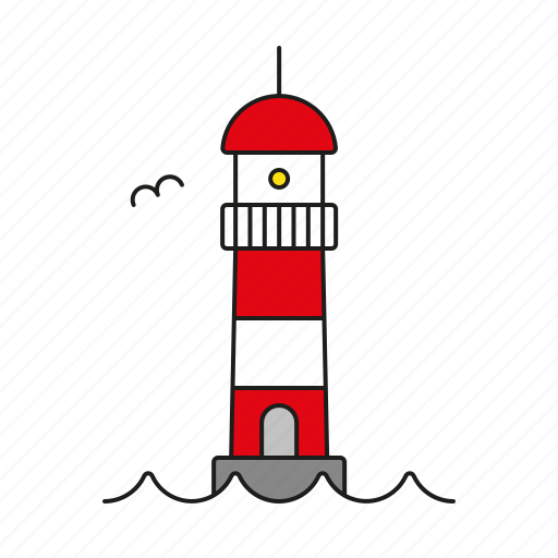 cargo, lighthouse, logistics, navigation, safety, shipping, transport icon