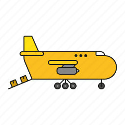 aircraft, airplane, cargo, freight, logistics, shipping, transport icon
