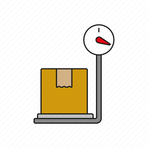 cargo, logistics, parcel, scales, shipping, transport, weight icon
