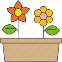 equipment, flowers, flowwrr bed, garden, gardening, raised bed icon