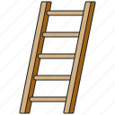 equipment, garden, gardening, ladder, tool icon