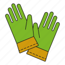 equipment, garden, gardening, gloves, protective gloves, tool, work wear icon