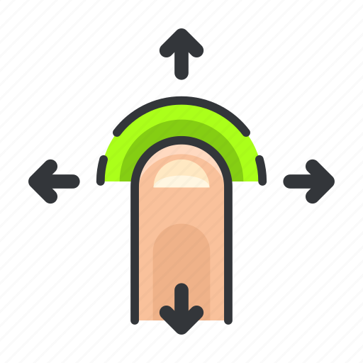 arrows, finger, gesture, move, touch icon