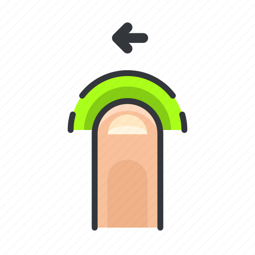 arrow, finger, gesture, left, move, touch icon